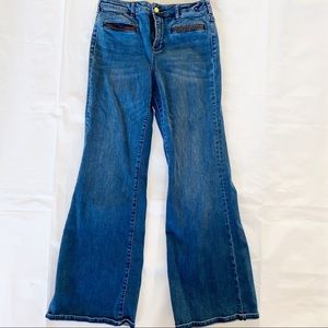 Anthropologie stet high rise flare jeans 29 pilcro